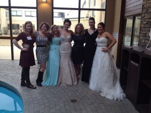 Karyn and Sari (far left) with the models for the Bridal Fair this February in Bozeman